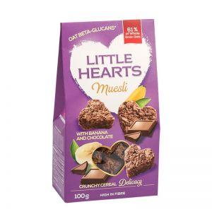 LITTLE HEARTS CU BANANE SI CIOCOLATA 100 G