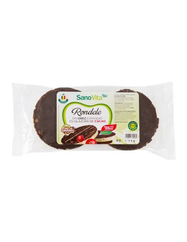 RONDELE DIN OREZ CU GLAZURA DE CACAO 75G