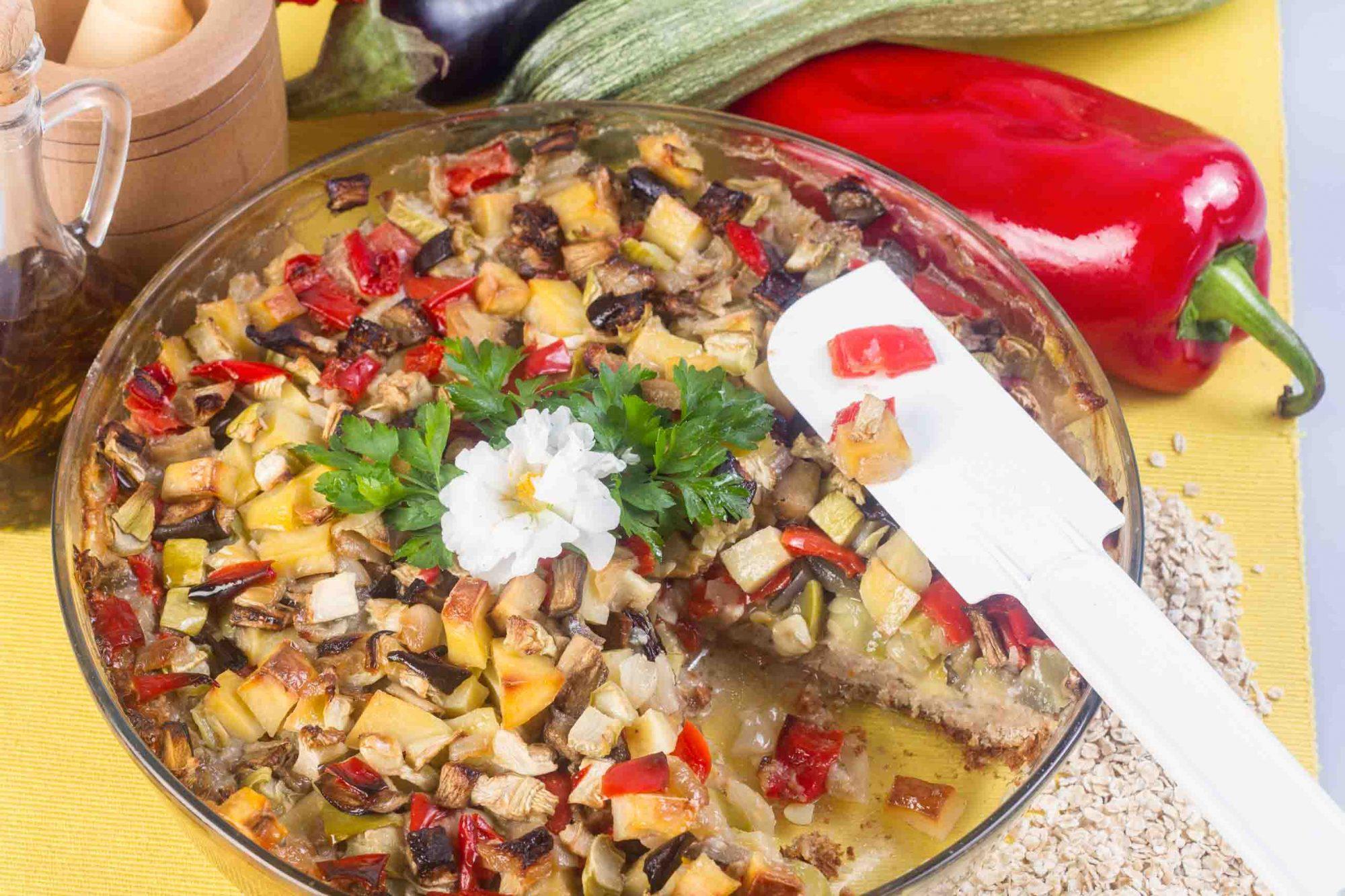 Placinta vegetariana cu legume