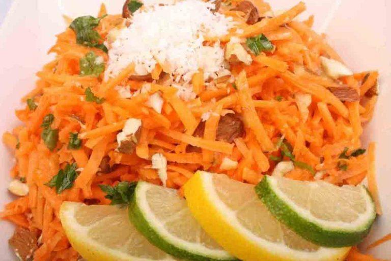 Salata de morcovi si migdale