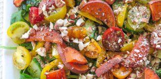 Salata de migdale cu cartofi dulci