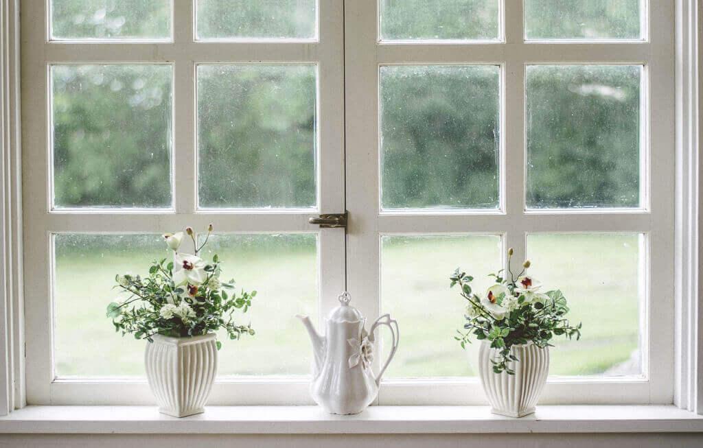 fereastra cu flori