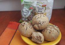 Chifle integrale pufoase cu lapte vegetal