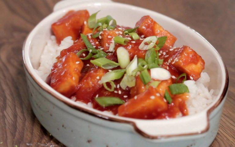Tofu dulce-acrisor – reteta video