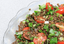 Salata tabbouleh cu linte