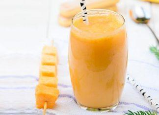 Smoothie de turmeric, ananas si morcovi