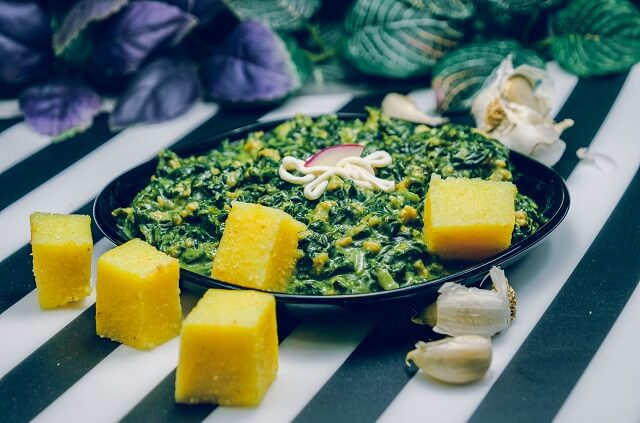 Mancarica de spanac, cu soia si smantana vegetala