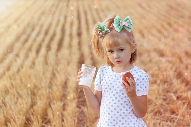 copil lapte de vaca