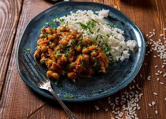 Curry cu spanac si naut