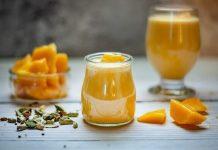 smoothie cu mango, ghimbir si turmeric