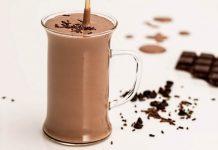 smoothie cald, de ciocolata si cocos