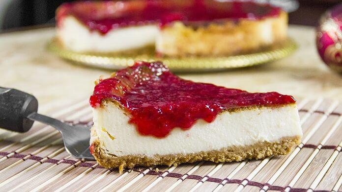 Cheesecake de zmeura vegan