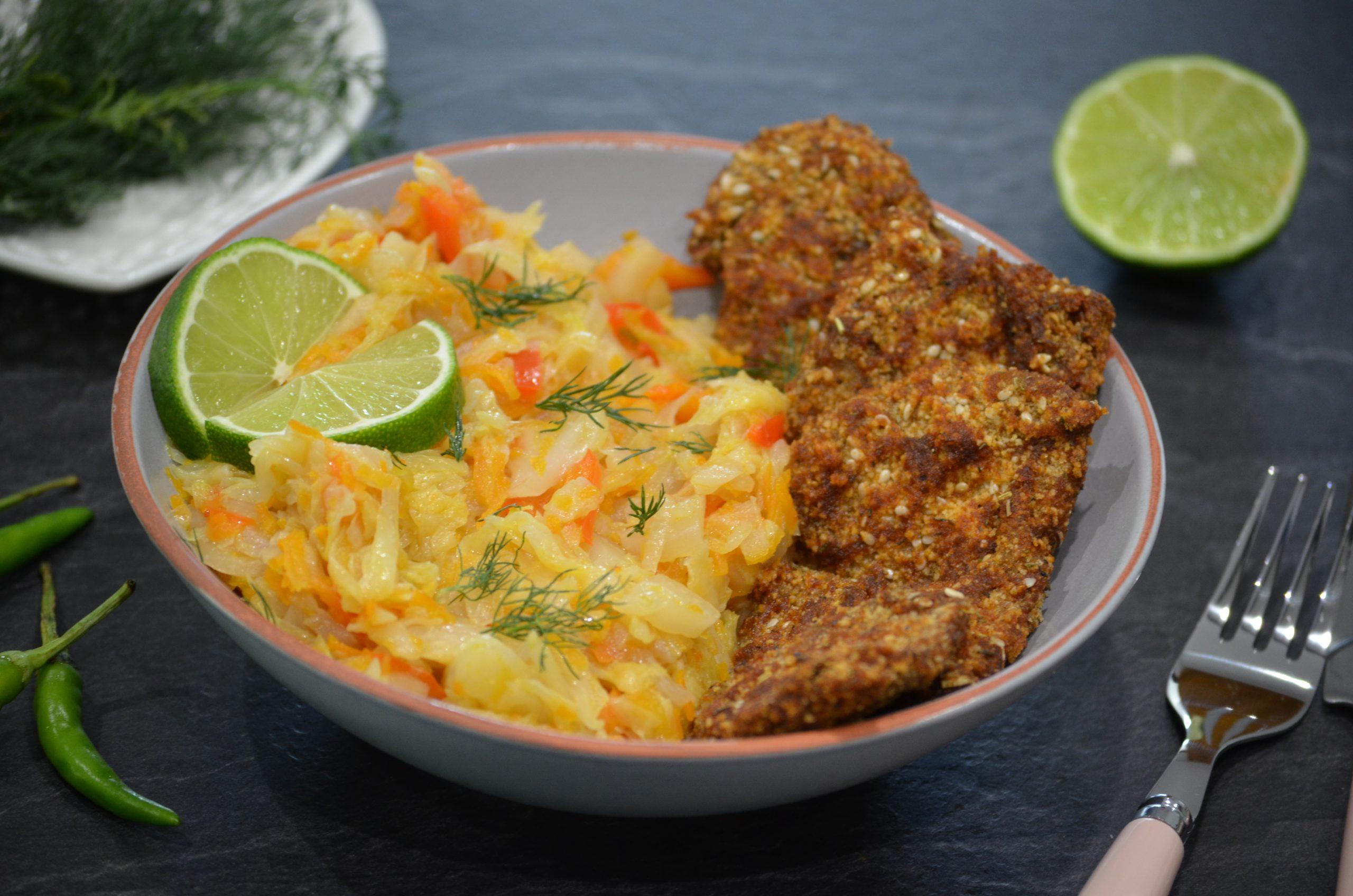 Șnițel de soia cu usturoi și rozmarin