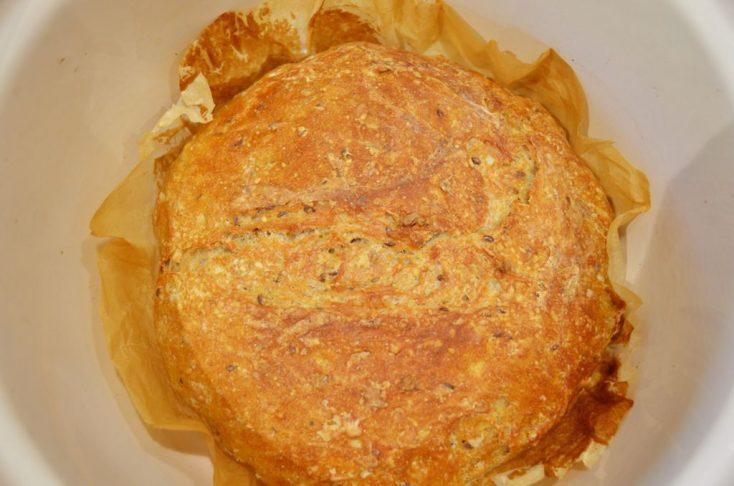Pâine de casă fără frământare